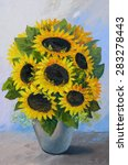 Oil Painting   Bouquet Of...