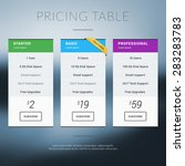 vector pricing table in flat... | Shutterstock .eps vector #283283783