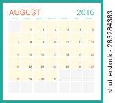 calendar 2016. vector flat... | Shutterstock .eps vector #283284383
