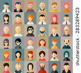 flat people character avatar...   Shutterstock .eps vector #283289423