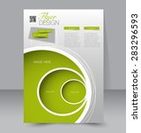 flyer template. business... | Shutterstock .eps vector #283296593