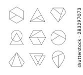 set of hipster icons  geometric ... | Shutterstock .eps vector #283297073