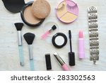 makeup eyeliner brush with... | Shutterstock . vector #283302563