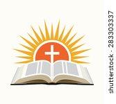 bible  sunset and cross. church ...   Shutterstock .eps vector #283303337
