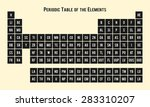 periodic table of the elements  ... | Shutterstock .eps vector #283310207