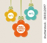 vector flower tag. floral... | Shutterstock .eps vector #283312097