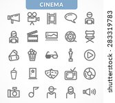 line icons on the topic of...   Shutterstock .eps vector #283319783