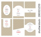 set of wedding cards. located... | Shutterstock .eps vector #283321253