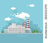 ecology concept   industry... | Shutterstock .eps vector #283332293