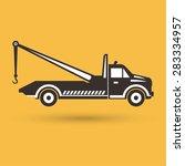 tow truck emblem. wrecker icon. ...   Shutterstock .eps vector #283334957