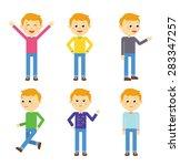 set of children. boy. other... | Shutterstock .eps vector #283347257