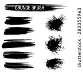 vector set of grunge brush... | Shutterstock .eps vector #283355963