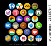 flat round icon set 4 travel | Shutterstock .eps vector #283357847