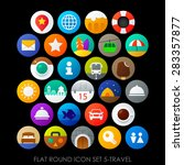 flat round icon set 5 travel | Shutterstock .eps vector #283357877