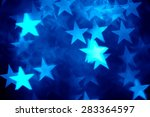 Blue Star Shape Holiday Photo...