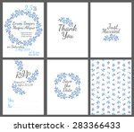 invitation wedding card set... | Shutterstock .eps vector #283366433
