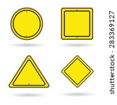 traffic signs templates | Shutterstock .eps vector #283369127