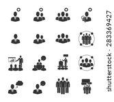 people icons vector eps10. | Shutterstock .eps vector #283369427