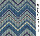 seamless knitted zigzag pattern | Shutterstock .eps vector #283372187