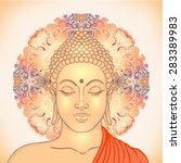 head of buddha. vector... | Shutterstock .eps vector #283389983