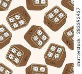 japanese food theme tofu  ... | Shutterstock . vector #283392437