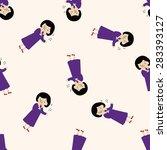 singer   cartoon seamless... | Shutterstock . vector #283393127
