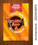 bbq grill flyer  typographical... | Shutterstock .eps vector #283404893