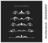 vector set. vintage design... | Shutterstock .eps vector #283406003