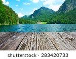 Alpsee Lake At Hohenschwangau...