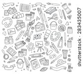 art and craft hand drawn vector ... | Shutterstock .eps vector #283435007