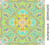 abstract artistic colorful... | Shutterstock . vector #283441643