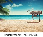 beach and tropical sea. concept ... | Shutterstock . vector #283442987