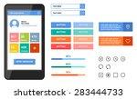 simple mobile flat ui | Shutterstock .eps vector #283444733