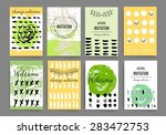 set of trendy posters with hand ... | Shutterstock .eps vector #283472753
