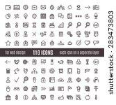 110 icons | Shutterstock .eps vector #283473803