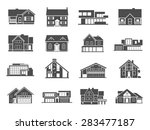 modern houses and cottages... | Shutterstock .eps vector #283477187