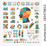 set of graphs  charts and... | Shutterstock .eps vector #283478813