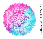 watercolor abstract design... | Shutterstock .eps vector #283497113