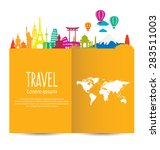 travel and tourism concept... | Shutterstock .eps vector #283511003