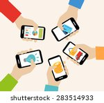 mobile apps concept   social... | Shutterstock .eps vector #283514933