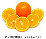 whole orange fruit and his... | Shutterstock . vector #283517417