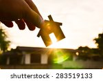 the concept of building houses... | Shutterstock . vector #283519133