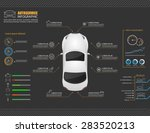 car auto service infographics... | Shutterstock .eps vector #283520213