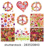hippie backgrounds and design... | Shutterstock .eps vector #283520843