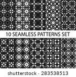 set of vintage geometric... | Shutterstock .eps vector #283538513