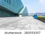 empty road near modern building | Shutterstock . vector #283553357