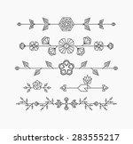 hipster geometrical flowers ... | Shutterstock .eps vector #283555217