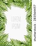 palm leaves background.... | Shutterstock .eps vector #283564457