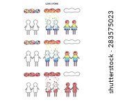 gay  lesbian and heterosexual... | Shutterstock . vector #283575023