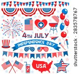 usa celebration flat national... | Shutterstock .eps vector #283578767